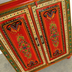 Hand Painted Colourful Cabinet