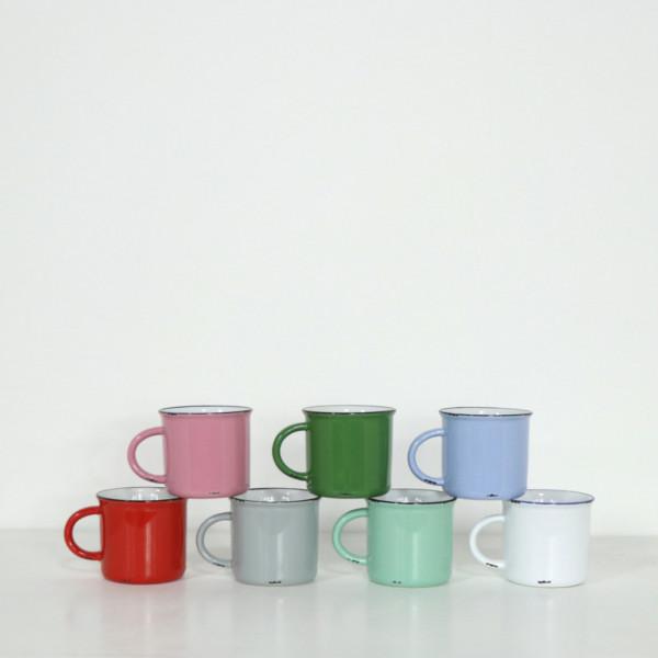 Tinware Enamel Look Mug