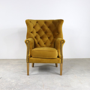 Croydon Wing Chair All Velvet