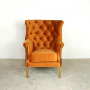 Croydon Wing Chair Burnt Orange