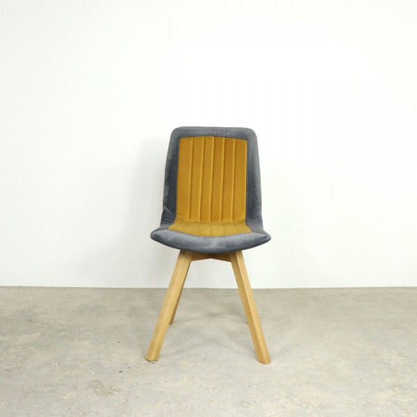 Charlie Dining Chair Mustard and Steel Set of 4