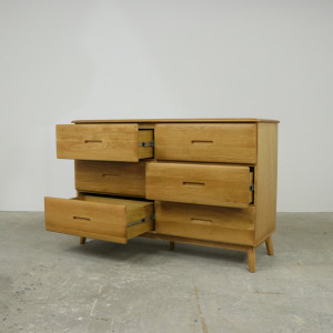 Malmback 6 Drawer Wide Oak Chest