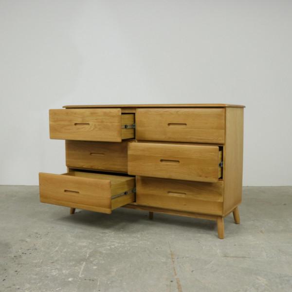 Malmback 6 Drawer Wide Oak Chest