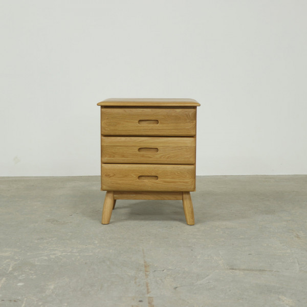 Malmback Three Drawer Bedside