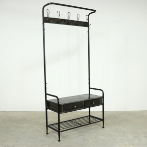 Black Metal Cloakroom Stand