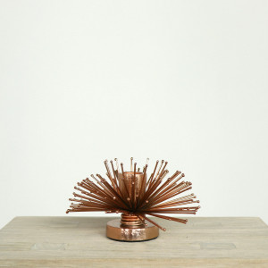 Copper Spike Candleholder