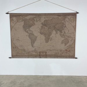 Giant Fabric Hanging Map