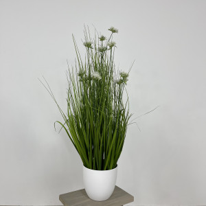 Artificial Grass With White Allium