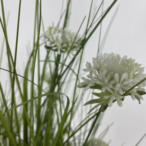 Artificial Grass With White Allium