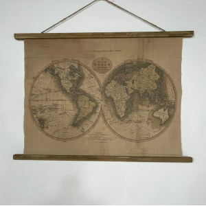Small Fabric Hanging Map