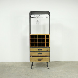 Metal 4 Rack Wine Cabinet