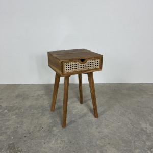 Rattan 1 Drawer Bedside Cabinet