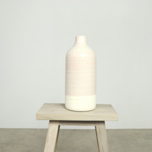 Duo Wide Vase River Salt