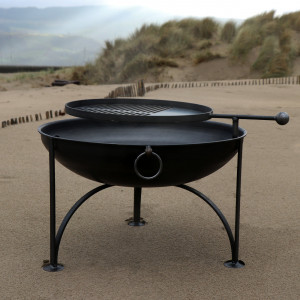 Arched Leg Firepit with Removable Griddle