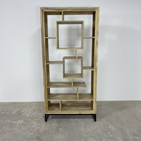Mango & Steel Asymmetric Display Cabinet