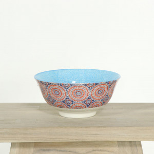 Glazed Bowl Aqua Mosaic