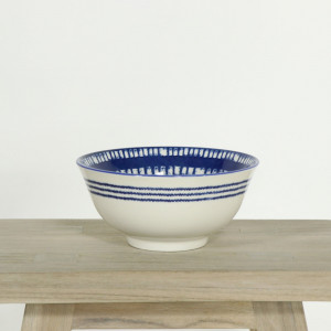 Glazed Bowl Blue Tile