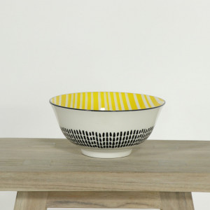 Glazed Bowl Monotone and Yellow
