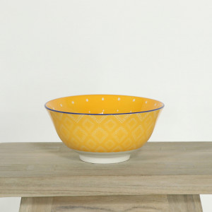 Glazed Bowl Orange Dotwork