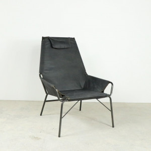 Chair With Headrest Antique Ebony