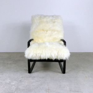 Sheep's Wool Chair with Black Iron Legs