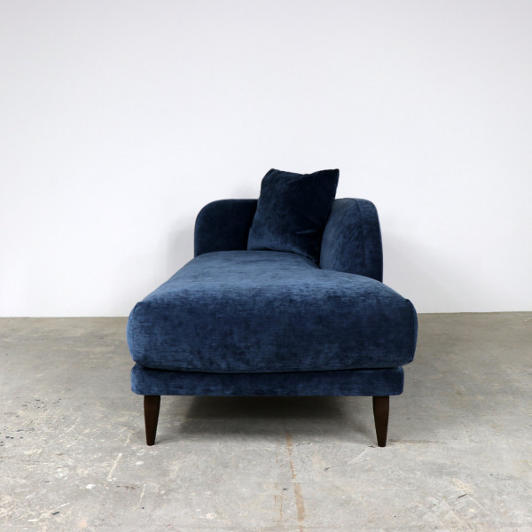 Journey Chaise in Shimmer Dark Blue