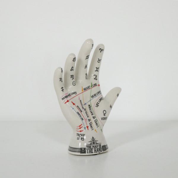 Crackle Phrenology Hand