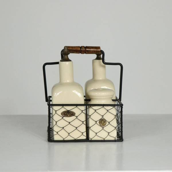 Farmhouse Living Condiments Wire Set
