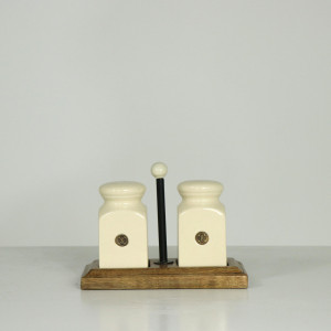 Farmhouse Living Salt & Pepper Wood Set