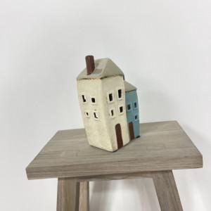 Two Cottage Tealight Holder