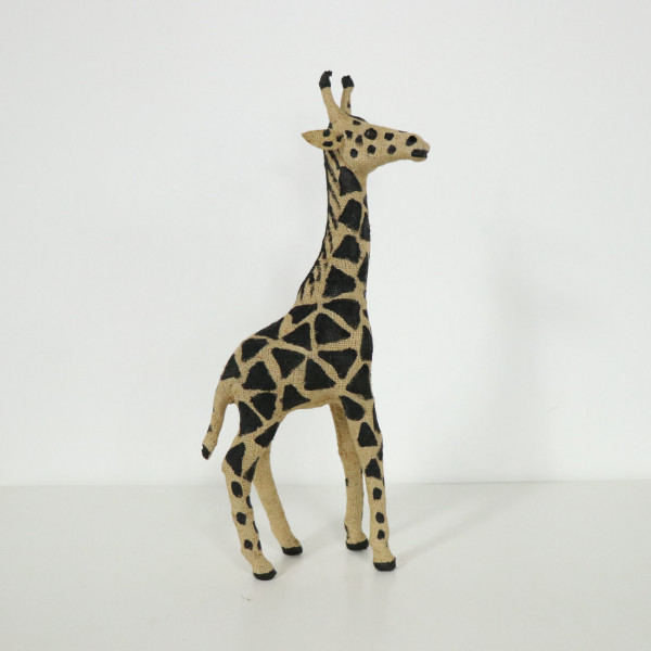 Jute Standing Giraffe Decoration