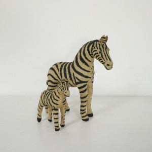 Jute Standing Zebra Decoration