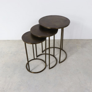 Faroe Nest of Tables Brass