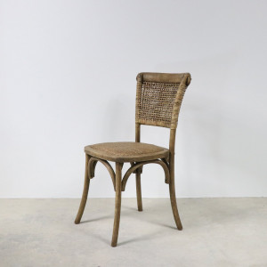 Woven Back Dining Chair