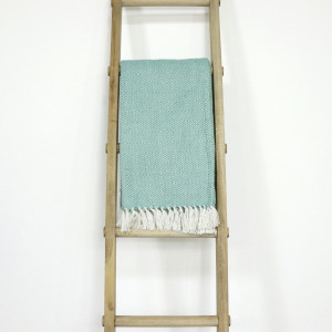Teal/White Diamond Recycled Plastic Throw