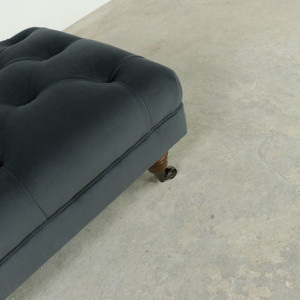 Classic Buttoned Footstool