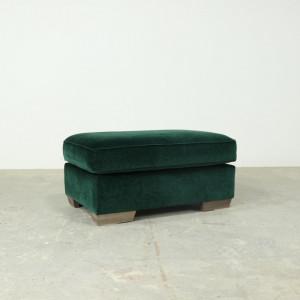 Large Velvet Footstool