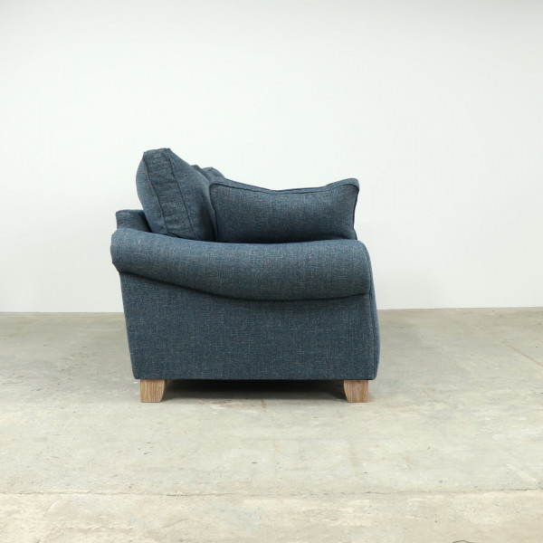 Keynes Extra Large Sofa in Denim with Teal Scatters