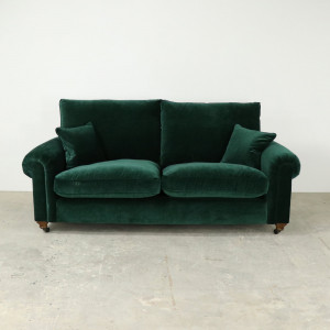 Odyssey Extra Large Formal Back Sofa in Emerald