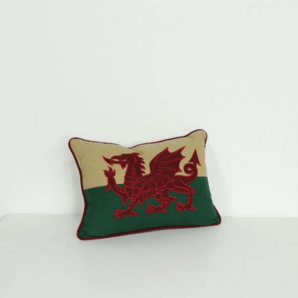"""12"""" x 18"""" Welsh Flag Cushion"""